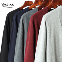 2019 Spring and Autumn New Listing Men Leisure Slim Fit Cardigan Male Soft Comfortable Classic Fashion Open V neck