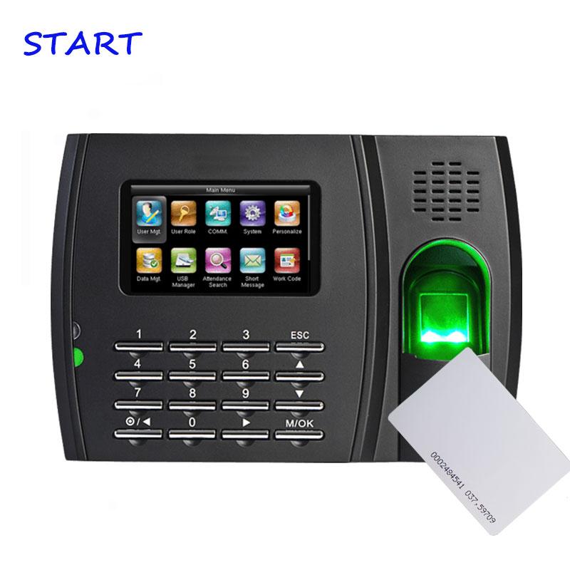 TFT Screen 125Khz And 13.56Mhz Card Reader Fingerprint Sensor Fingerprint Reader Time Recoder Fingerprint Attendance