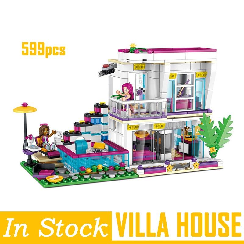 Nouveaux meilleurs amis filles série Livi's Pop Star maison blocs de construction ensemble briques jouets cadeaux compatibles avec LegoINGlys Technic