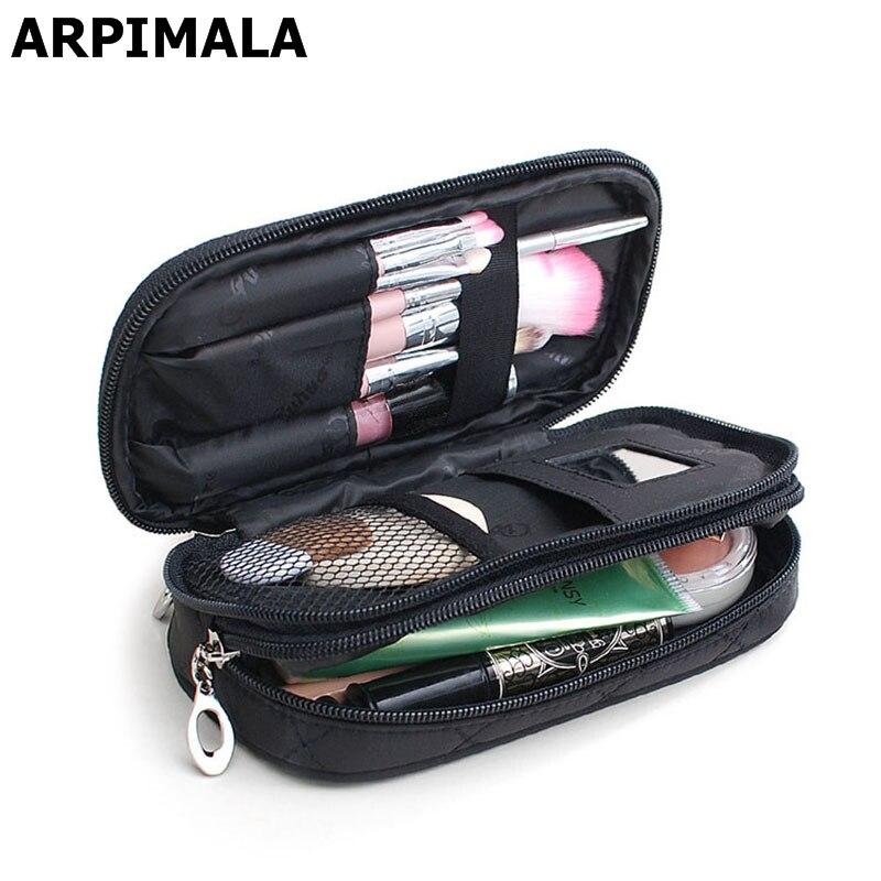 Arpimala cosméticos sacos saco de maquiagem feminina organizador de viagem escova de armazenamento profissional necessaries compõem caso beleza saco de higiene pessoal