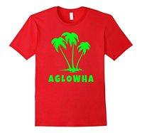 A HA GLOW Party Hawaiian Gier T Shirt Lady Casual Krótki Trójniki rękaw Dziewczyna T Shirt na Sprzedaż Woman Koszulki W Średnim Wieku