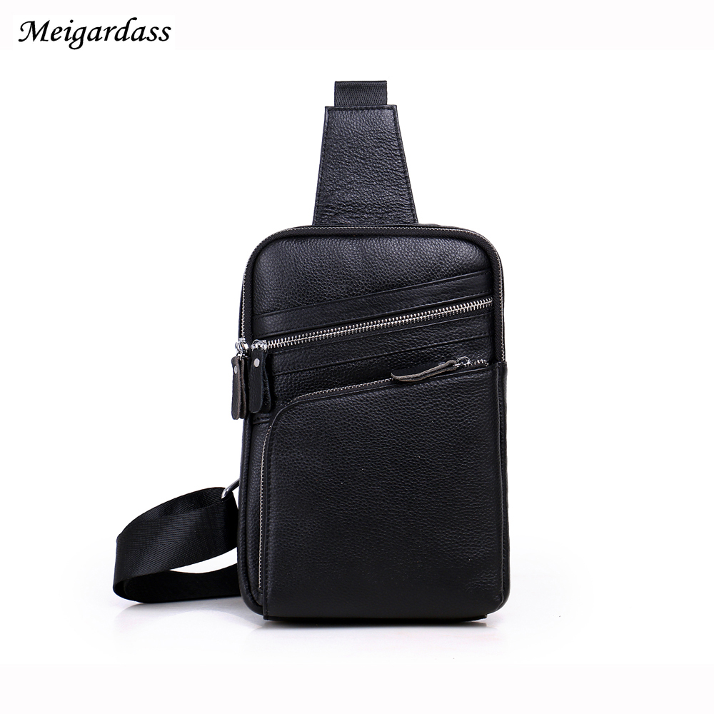New High quality Fashion travel  Male Bags Genuine Leather Crossbody Chest Bag Pack Casual Single Shoulder Messenger Bag men military chest bag high quality man laptop crossbody bags nylon male travel back pack waterproof big shoulder messenger bags