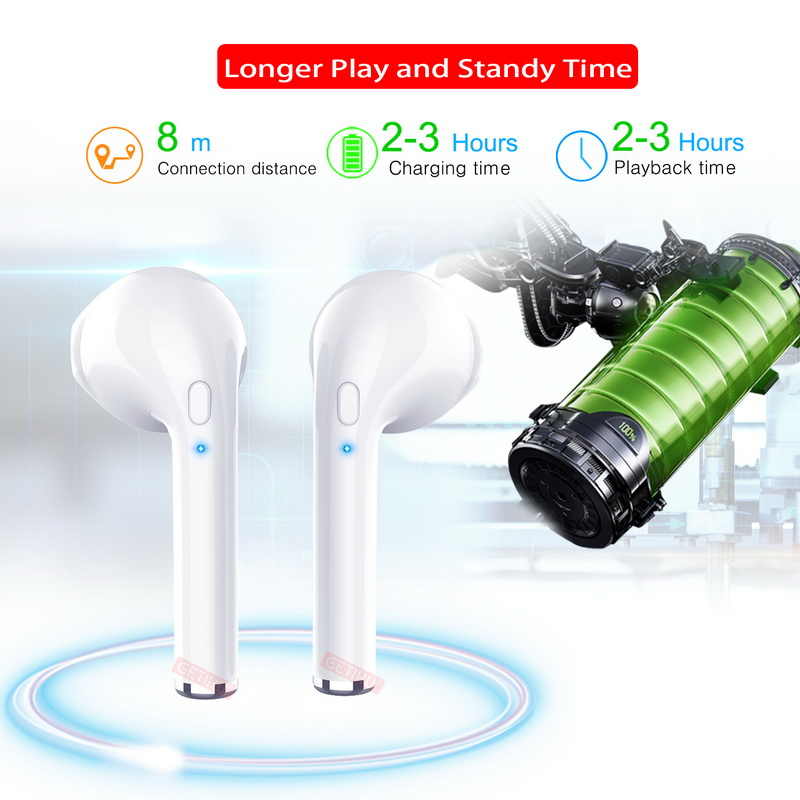 GETIHU Bluetooth Earphone Sport Phone Headset in Ear Buds Wireless Headphones Mini Earphones Earpiece For iPhone Samsung stereo