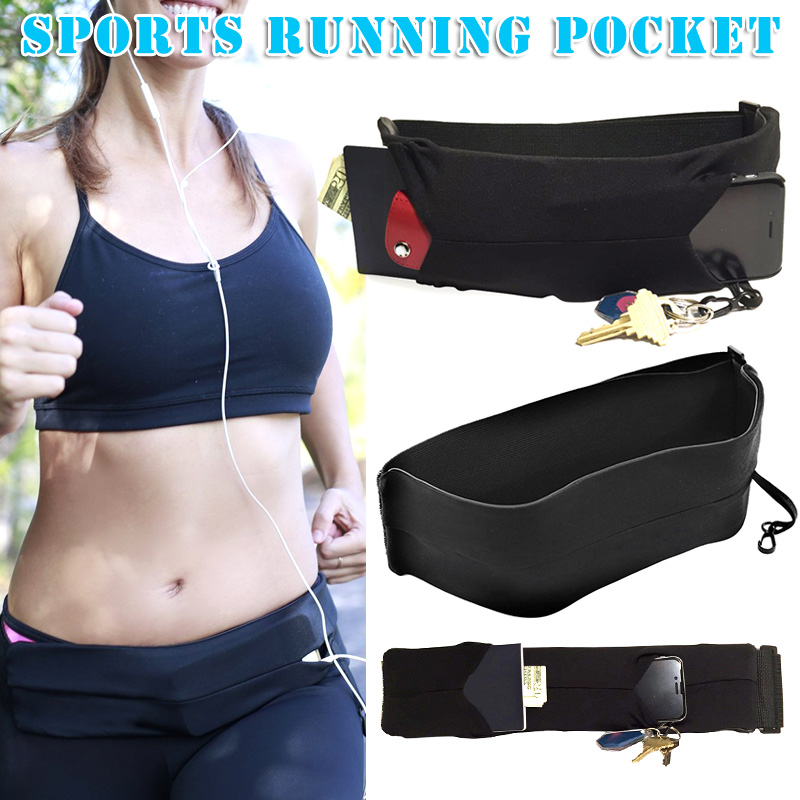 1 Pcs Women Men Waist Bag Casual Fashion For Outdoor Sport Mobile Phone Running Waist Bags Gym Bags Mild And Mellow