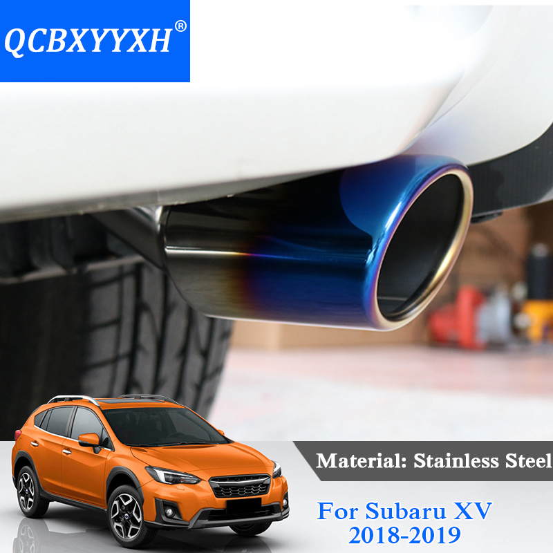 Car Styling Stainless Steel REAR Exhaust Pipe Tail Pipe Muffler External Decoration For Subaru XV 2018 2019 Auto Accessories stylish stainless steel car exhaust pipe muffler tip