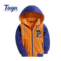 TAGA New Arrival Children's Spring& Autumn zip up hoodie High Quality Solid Jacket Coat Casual Striped Sports clothes