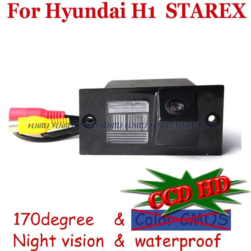 2.4G draadloze draad CCD HD nachtzicht groothoek auto achteruitrijcamera voor sony ccd HYUNDAI H1 GRAND STAREX parkeerhulp PAL / NTSC
