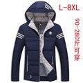 Engrosamiento de 2016 inviernos del otoño Marea ropa de talla grande de algodón acolchado abajo algodón masculina con capucha L-8XL