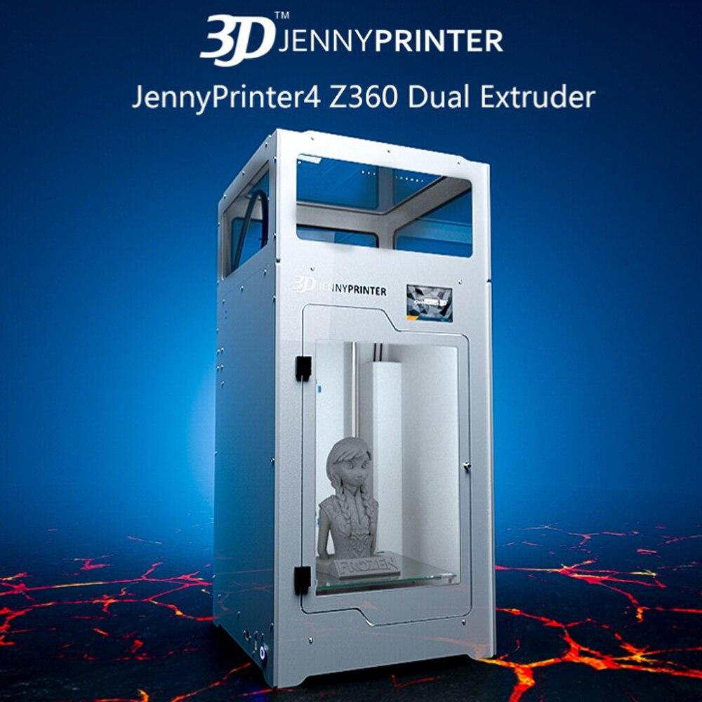 Double extrudeuse JennyPrinter4 Z360 avec écran tactile et kit de bricolage d'imprimante 3D de niveau automatique pour l'impression 3d étendue d'ultimaker 2 UM2 +