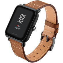купить leather strap For Xiaomi Huami Amazfit Bip BIT Huami Amazfit PACE Lite Youth Smart Watch Wearable Wrist Bracelet  Watchband недорого