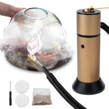 Cibo Freddo Generatore di Fumo a base di Carne Bruciare Smokehouse di Cottura Portatile Molecolare Cucina di Fumo Pistola per BARBECUE Grill Fumatore di Legno