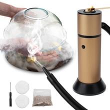 Food Cold Smoke Generator Meat Burn Smokehouse Cooking Portable Molecular Cuisine Smoking Gun for BBQ Grill Smoker Wood