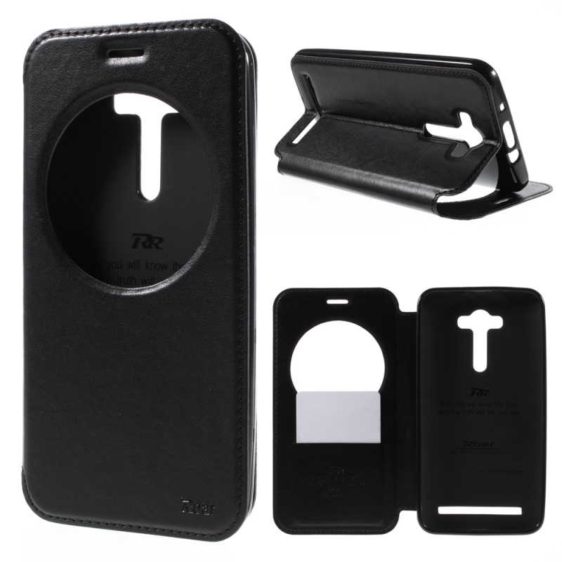Roar Korea Noble View Window Leather Flip Cover Case For Asus Zenfone 2 Laser ZE550KL ZE551KL Z00LD 5.5 inch Phone Bags Cases