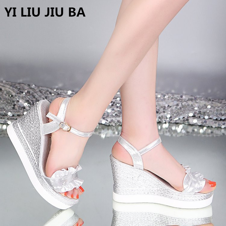 Sandals Shoes Fashion Student New Wild Casual --708 Ruffle