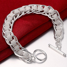 High Quality Ladies Bracelet 925 Silver Color Many Circle Charm Bracelets Jewelry for Women Men Whol