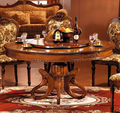 European style wooden modern dining table Solid wood dining table
