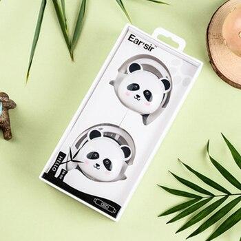 Cute Panda Bear Stereo ear hook Earphone Earbuds Headphone with Mic 3.5mm Sports Headset for Girls Kids iphone Xiaomi Mp3 Gifts