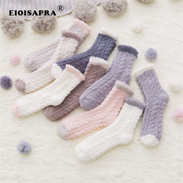 3286b4709 Autumn Winter Women s Thick Candy Color Angora Wool Socks.Ladies Soft Warm  Long-haired