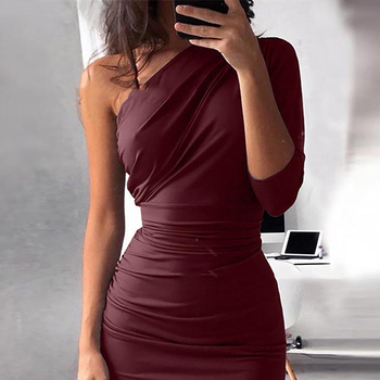 One Shoulder Bodycon Party Dresses 4