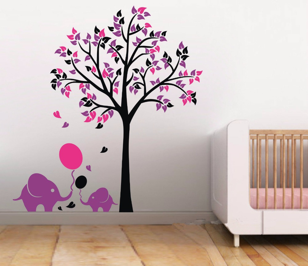 Amazing Aliexpress.com : Buy L46 Elephant Balloon Tree Wall Sticker Vinyl Decal  Kids Nursery Baby Decor Art Mural From Reliable Decoration Art Suppliers On  ZunNiu ... Part 31