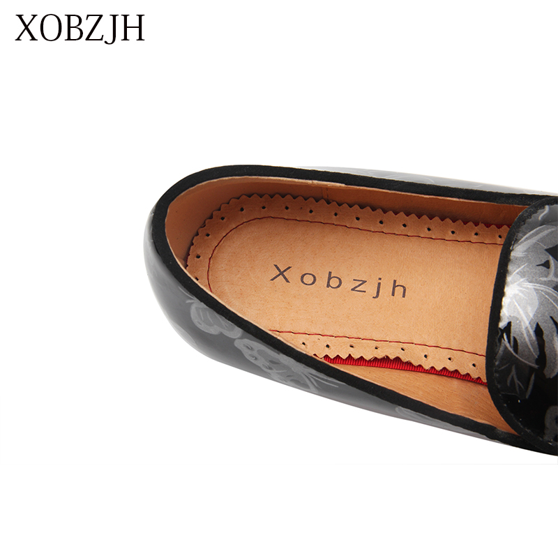XOBZJH 2019 Men Shoes Italian High Quality Loafers Shoes Men Summer Luxury Wedding Party Genuine Leather Slip On Black Shoes in Men 39 s Casual Shoes from Shoes