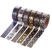 10m Gold Foil Washi Tape Scrapbooking Christmas Decorative Masking Tape