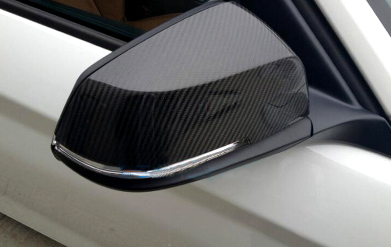 For BMW X1 E84 2013 2014 2015 Carbon fiber rearview mirror cover trim 2pcs Car Exterior Decoration Car-styling 2pcs carbon fiber rearview mirror cover for audi a4 b8 2013 2015