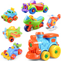 Early Learning Education DIY Screw Nut Group Installed Plastic 3d Puzzle Disassembly Motorcycle Kids Toys for Children Jigsaw