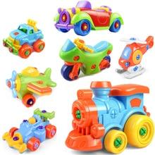 Frühen Lernen Bildung DIY Schraube Mutter Gruppe Installiert Kunststoff 3d Puzzle Demontage Motorrad Kinder Spielzeug für Kinder Jigsaw