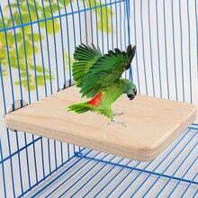 Pet Bird Parrot Chew Toy Wood Hanging Swing Cages Fr Birdcage Parakeet Cockatiel