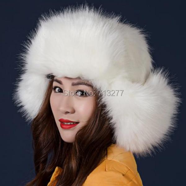 HT250 Frauen Plüsch Kunstpelz Gefüllte Warme Winter Ohrenwärmer - Bekleidungszubehör - Foto 1