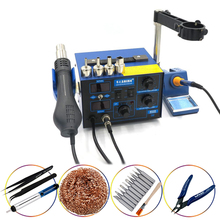 Saike 952D Soldering StationHot Air Gun + Soldering Iron 2in1 Power 760W BGA rework station welding table 110V/220V saike 952d 2 in 1 solder rework station hot air gun soldering iron 760w