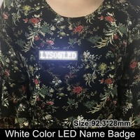 2017 Promotion 44x11 Points Blanc Couleur Huidu Led Nom Conseil/Badge Signe, rechargeable D'affaires Nom Carte Led Message Tag