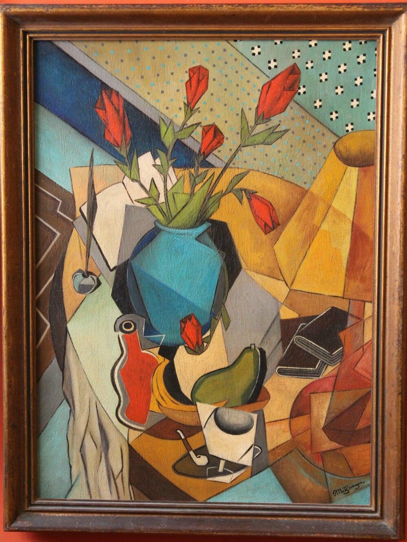 Aceite en la lona pintura JEAN METZINGER cubismo 1245 en Pintura y ...