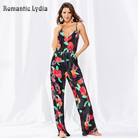 Velour Jumpsuits for Women 2018 Fashion Print Long Pants Womens Spaghetti Straps Rompers Party Clubwear Wide Leg Pants Jumpsuit