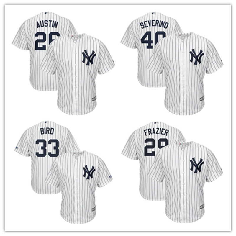 Mens New York Yankees Brett Gardner Jersey MLB Tyler Austin Luis Severino Greg Bird White Baseball Jersey ...