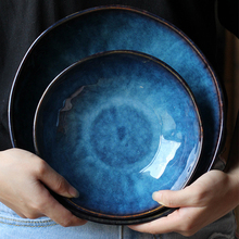 Lekoch Japanese style Dish Cats Eye Gloss ceramic Plates Creative Steak Dessert Tray Kitchen Dinner Home Decor Tableware