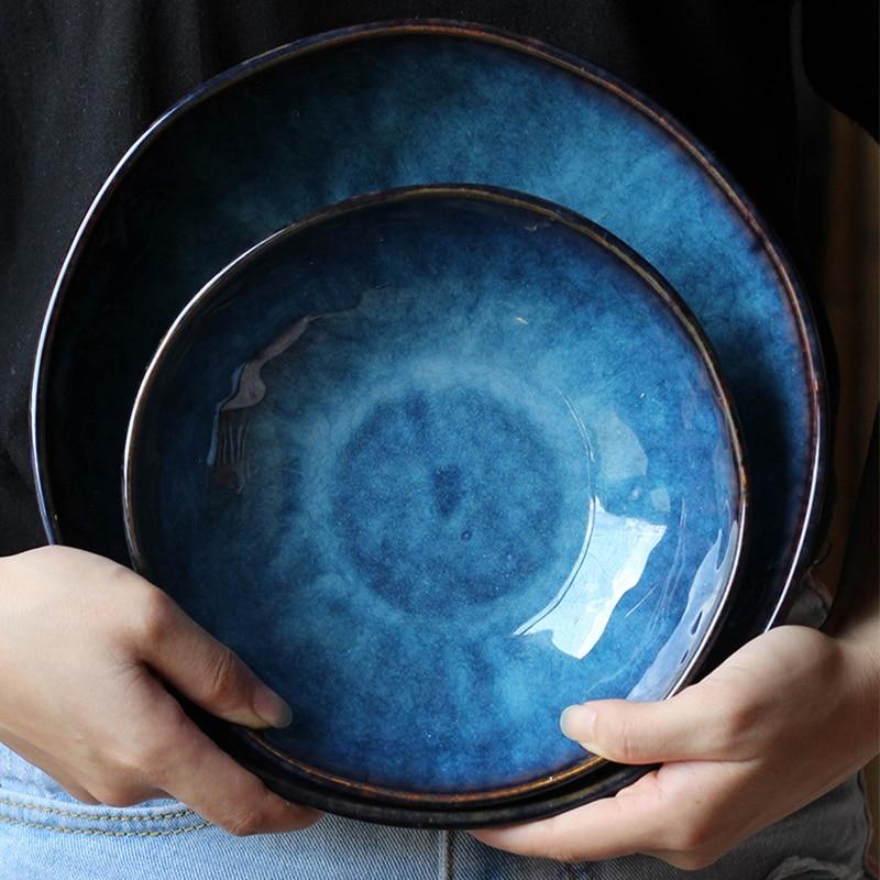 Lekoch Japanese style Dish Cat's Eye Gloss ceramic <font><b>Plates</b></font> Creative Steak Dessert Tray Kitchen Dinner <font><b>Plates</b></font> Home Decor Tableware
