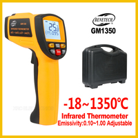 Digital handheld gun non contact infrared thermometer laser Pyrometer professional industrial temperature gun GM1350 BENETECH