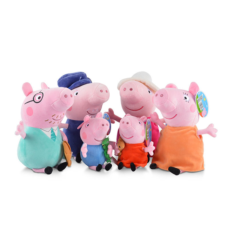 Kawaii Peppa Pig George Animal Stuffed Plush Toys 19CM Original Family Friend Peppa Pig Party Dolls Toy For Children Girl Gifts 1