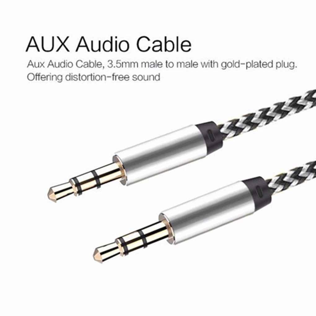 3.5mm Stereo Car pomocniczy kabel Audio z męskiego na męskie dla smartfona aux 3.5mm męski kabel audio