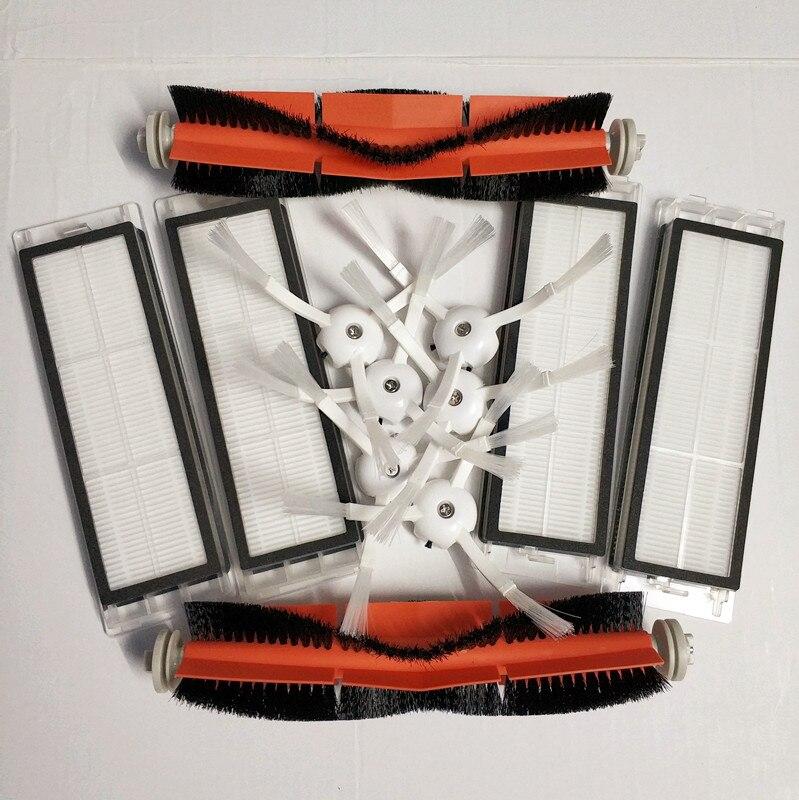 6 * cepillo lateral + 4 * filtro HEPA + 2 * principal adecuado para xiaomi vacío 2 roborock s50 xiaomi roborock xiaomi mi Robot