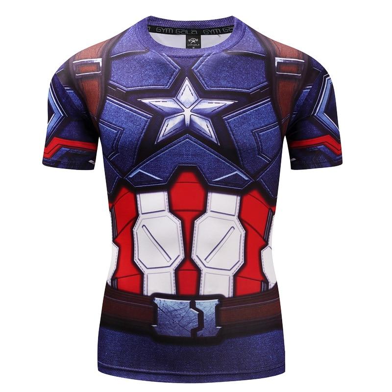 3D-tryckta T-shirts Män Kortärmad Män Anime Superhero Amerikan - Herrkläder