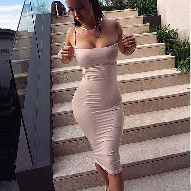 NewAsia Cotton Summer Dress 2019 2 Layers Women Sexy Bodycon Midi Dress White Basic Tube Long Slip Dresses Casual Vestidos New in Dresses from Women 39 s Clothing