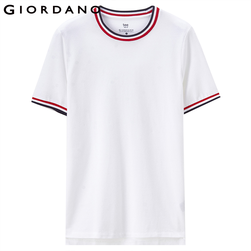 47a248786ad2 Giordano Men Tee Cotton Short Sleeves Tshirt Contrast Crewneck Tops Male  Fashion Summer Outfit 2018 Series-in T-Shirts from Men s Clothing on  Aliexpress.com ...