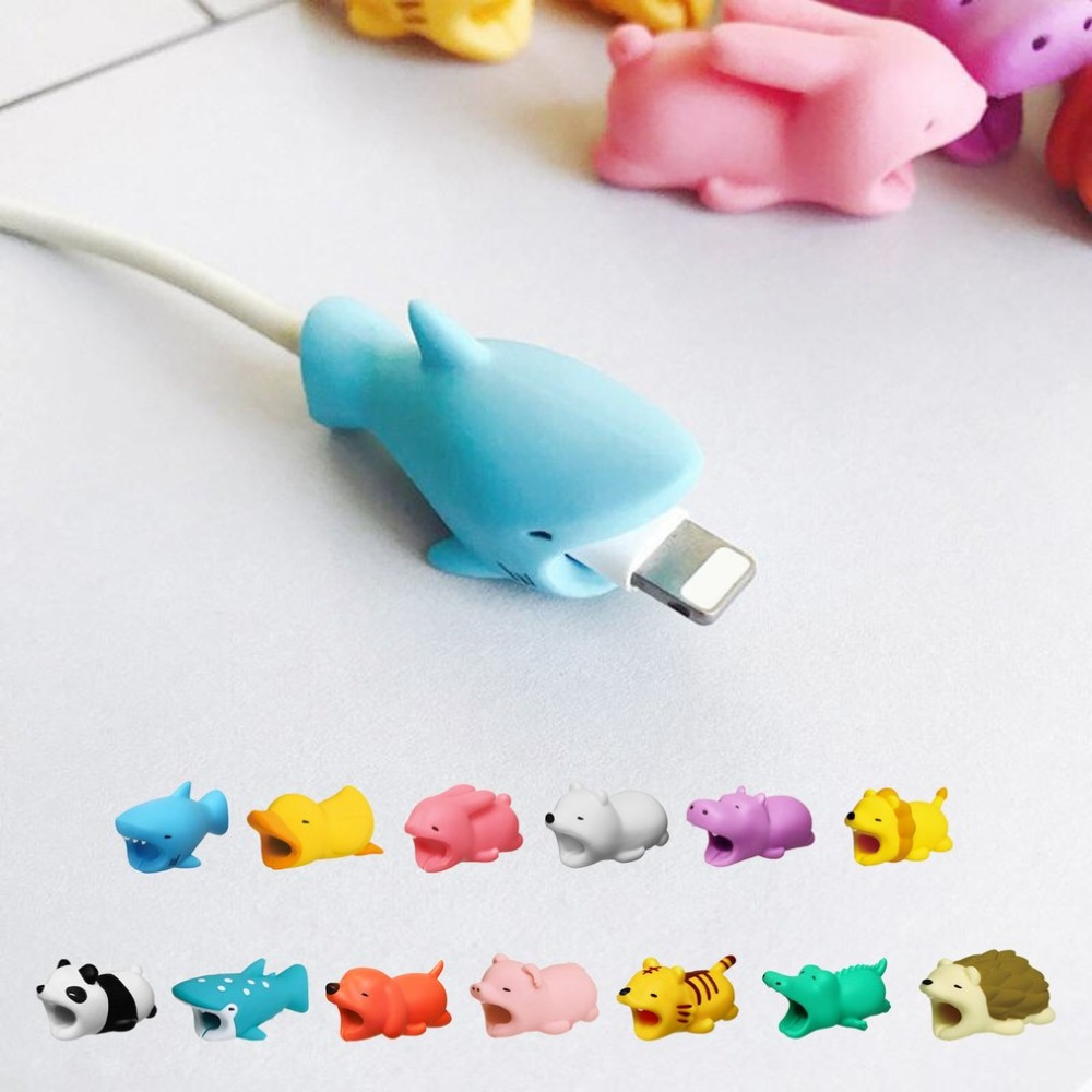 Animal Cable Winder Anti Breaking Protective Cover For Figure Usb Hippo Multi Adaptor Aero 3 Ports Simple Pack Cute Cartoon Data Charger Earphones