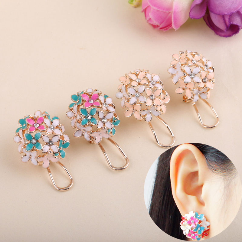 LNRRABC Gold Leaf Flower Piercing Ear Studs Earrings Boucle Women Fashion Statement Party Jewelry Bijoux Femme Drop Shipping