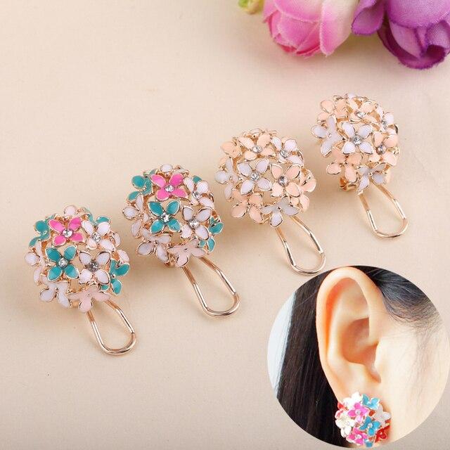Lnrrabc Gold Leaf Flower Piercing Ear Studs Earrings Boucle Women Fashion Statement Party Jewelry Bijoux Femme