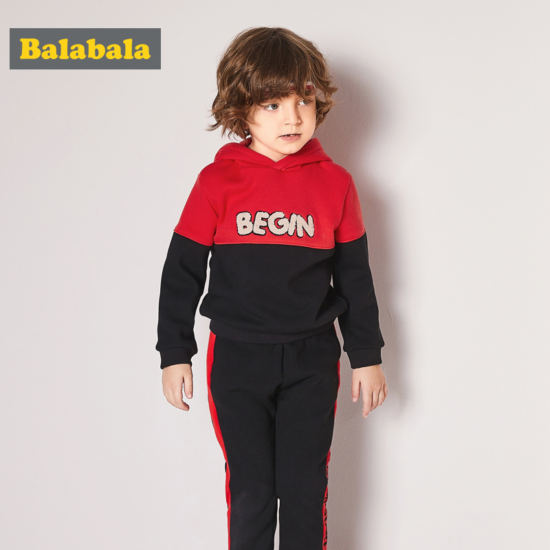 balabala new clothing sets for baby boys 2 pcs clothes set kids clothes fashion autumn sports suits for children hoodies+pants