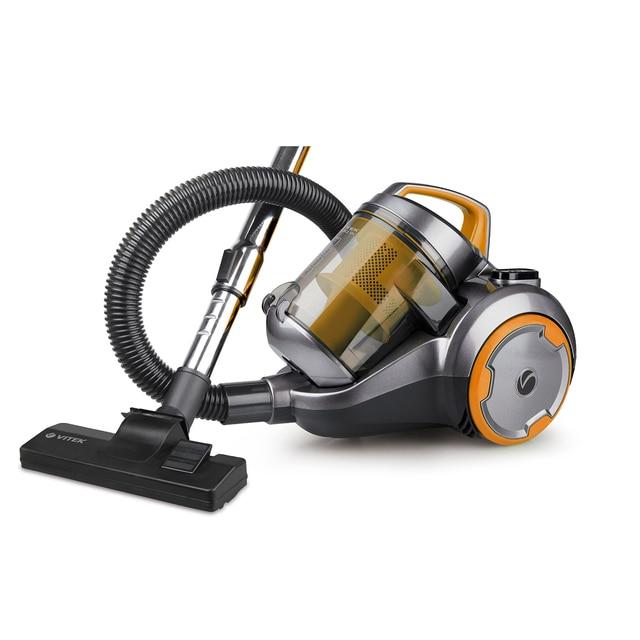 Пылесос электрический Vitek VT-1894 OR (НЕРА фильтр, потребляемая мощность 2000 Вт, мощность всасывания 400 Вт, объем пылесборника 2,5 л, кабель 5 м)